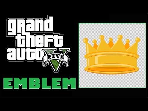 Grand Theft Auto 5 / GTA 5 / GTA V : Crown Emblem Tutorial