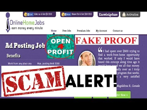 open4profit  Scam Alert | Online-Home-Jobs.com SCAM with proof
