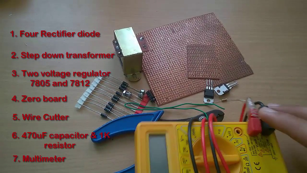 How To Make A 5v Or 12v Power Supply Adapter Ac To Dc