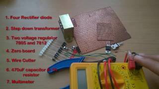 Скачать How To Make A 5v Or 12v Power Supply Adapter AC To DC Converter Rectifier