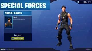 Special Forces Character Outfit Rare Vbucks Daily Item in Fortnite Battle Royale