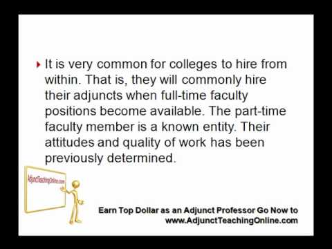 how to become an adjunct professor at a community college