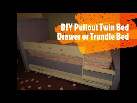 DIY Pullout Twin Bed Drawer or Trundle Bed