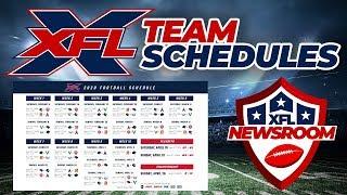 🔴 LIVE: XFL Team Schedules Released