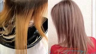Окрашивание в блонд | Калифорнийское мелирование и тонирование по горячему блонду