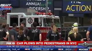 TIMES SQUARE CRASH: driver tried to escape.