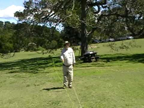 John Vernon casting during training at Centennial Park