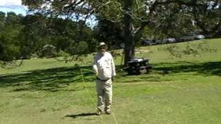 John Vernon casting during training at Centennial Park
