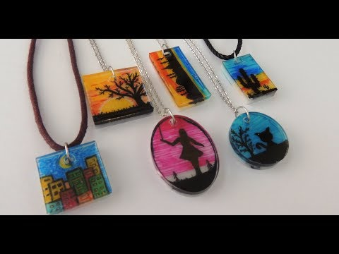 EPOKSİ RESİM KOLYE - EPOXY NECKLACE  PICTURED- DIY