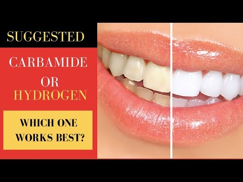 BEST TEETH WHITENING TREATMENT: CARBAMIDE PEROXIDE OR HYDROGEN PEROXIDE(WHICH ONE IS BEST)
