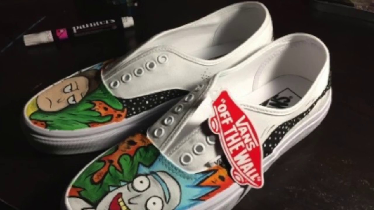 1c6b56908a1 Custom Rick and Morty Vans Time Lapse - YouTube