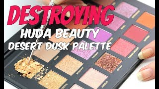 THE MAKEUP BREAKUP - Destroying the Huda Desert Dusk Palette | Weight deficit?!
