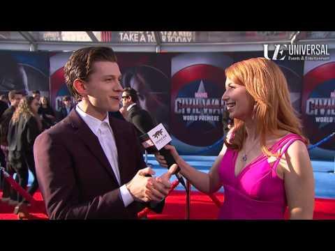 Tom Holland Talks Spider-Man on Marvel's Captain America: Civil War Red Carpet Premiere
