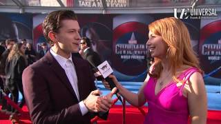 Tom Holland Talks Spider-Man on Marvel's Captain America: Civil War Red Carpet Premiere