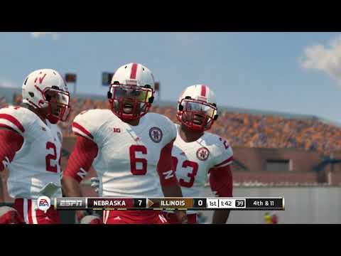 NCAA Football 14 Season 2017 2018 Nebraska Cornhuskers vs Illinois Fighting Illini