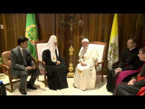Состоялась встреча Патриарха Кирилла с Папой Римским Франциском