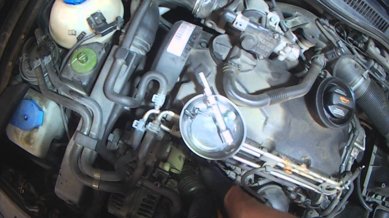 Vw A4 Bew Tdi Thermostat Replacement Youtube