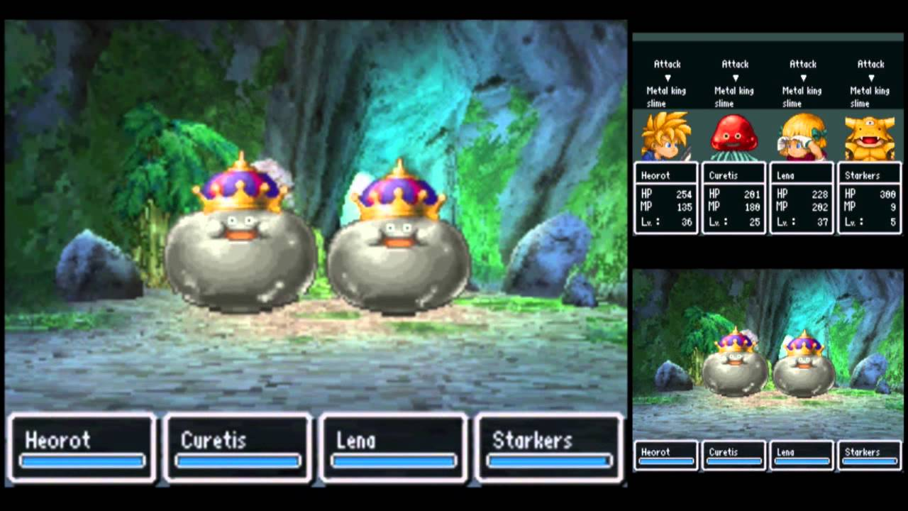 Dragon Quest V [DS] Playthrough #118, Estark's Labyrinth Hunting (1/5):  Metal King Slimes