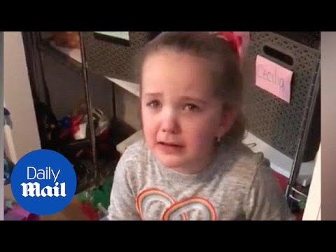 Little girl unhappy that Toys 'R' Us is closing - Daily Mail
