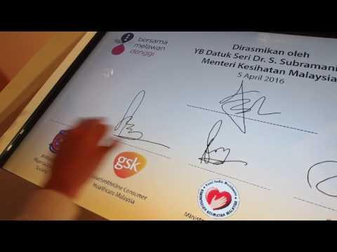 GlaxoSmithKline Allied Against Dengue Signing Ceremony (5 Apr'16)