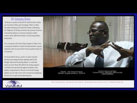 Meet CEO Sulemanu Koney, Ghana Chamber of Mines
