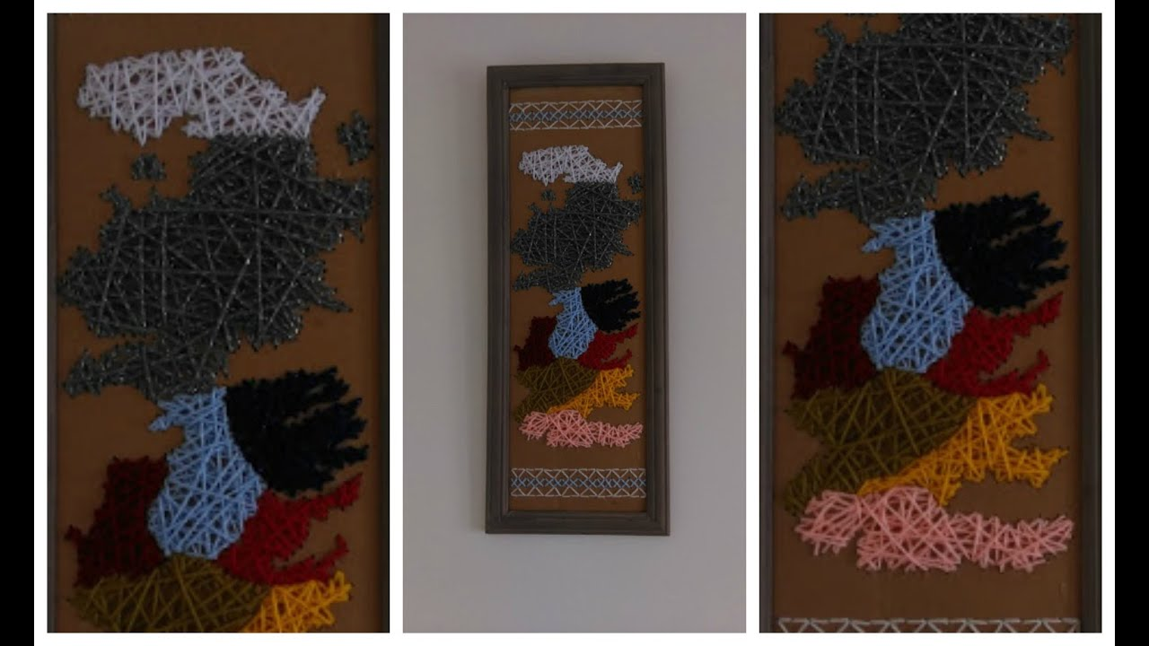 Easy Game of Thrones Map String Art DIY - YouTube