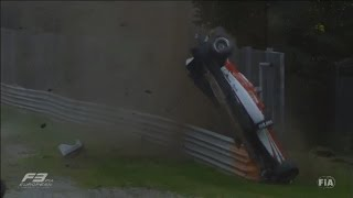 European Formula 3 2015. Monza. Horror crash of Lance Stroll