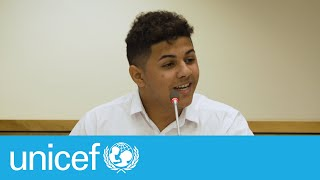 Powerful speech by Felipe, 17, a child rights activist at our Executive Board   UNICEF