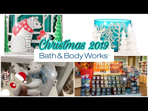 Bath and Body Works Christmas 2019 Sneak Peak    Christmas Candle Holders and Candle Shop With Me