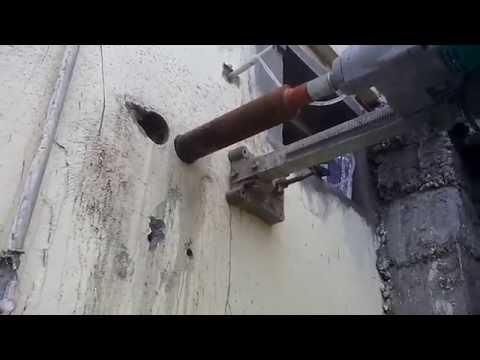 Ganmar Core Cutting Contractors in Chennai india Split ac fixing Holes