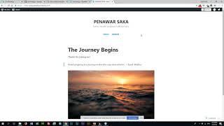 Belajar Website Percuma Menggunakan Wordpress Part 1