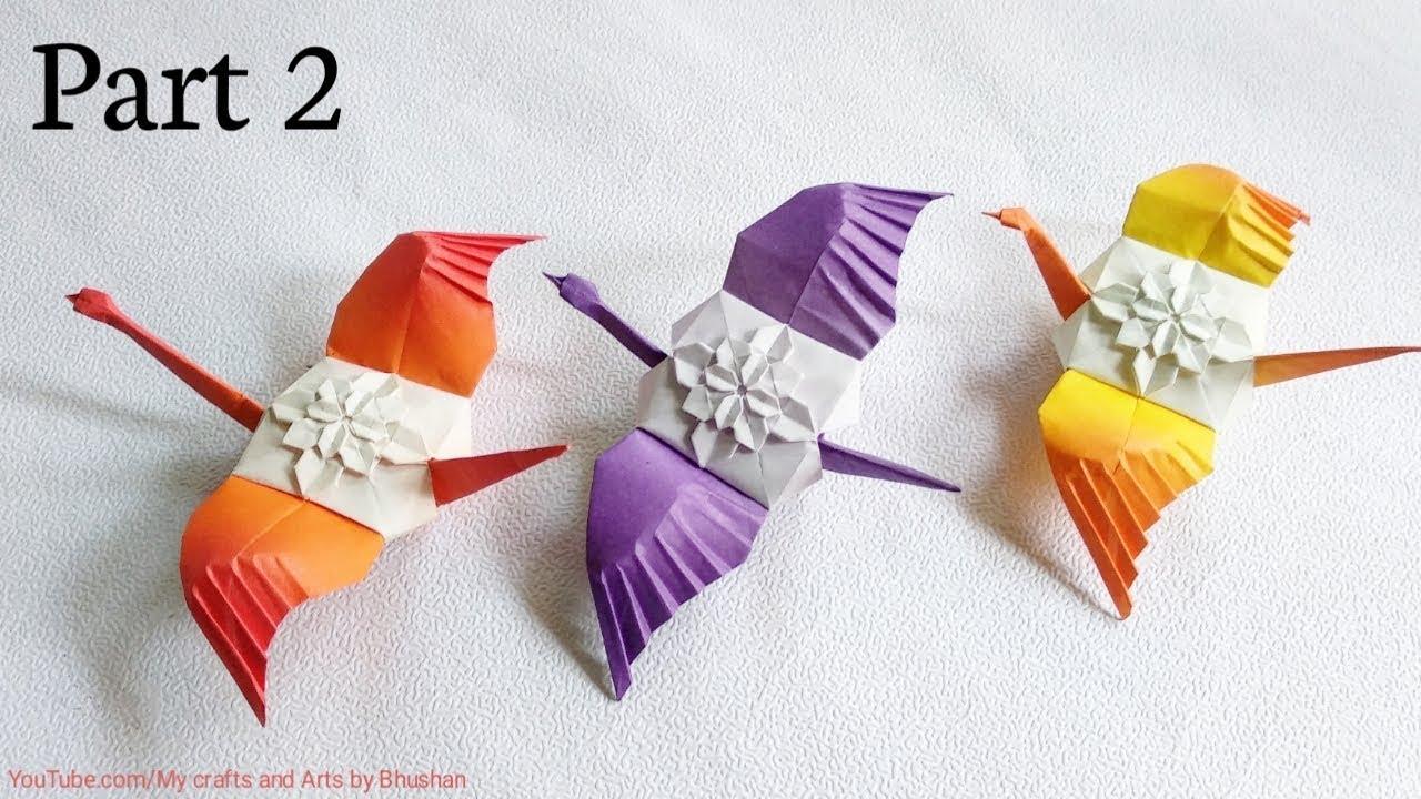 Origami Crane - Kids Origami Paper Crane Craft Tutorial - YouTube | 720x1280