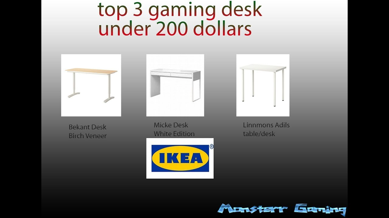 Top 3 Best Gaming Desks Under 200 Dollars