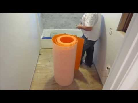 How to install wood look plank tile on Schluter Ditra Parts 1 through 8