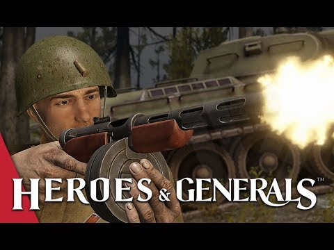 Vanilla Warriors! Unmodded PPD-40 - Heroes and Generals Gameplay (ft. The Shermanator)