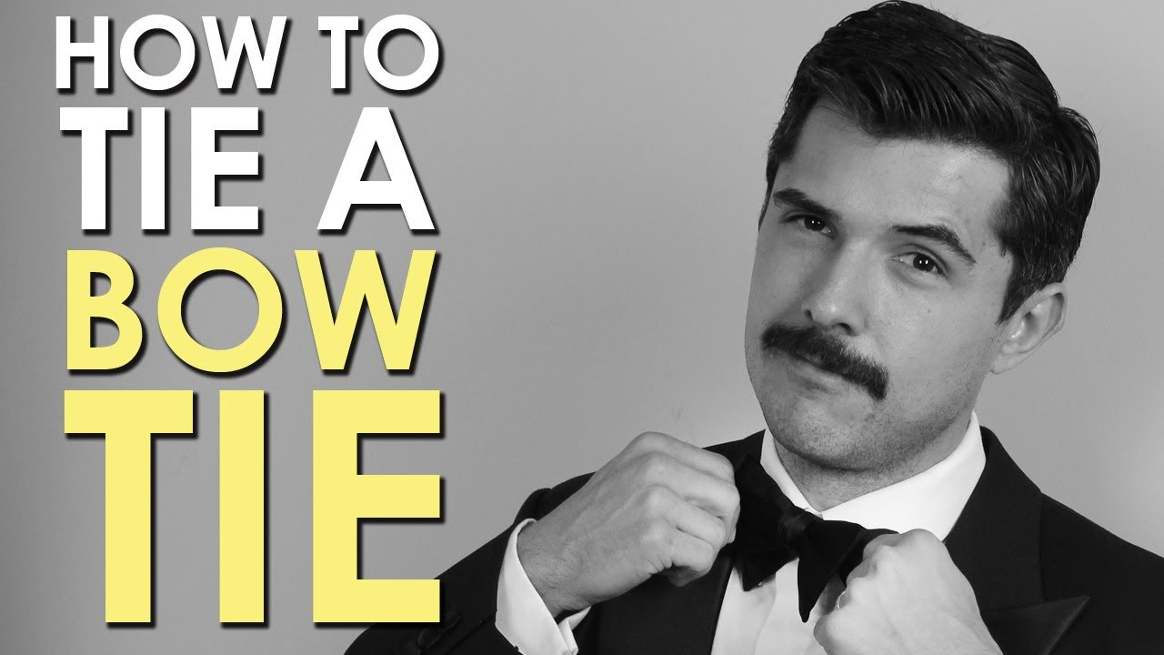 How to tie a bow tie the art of manliness youtube ccuart Image collections