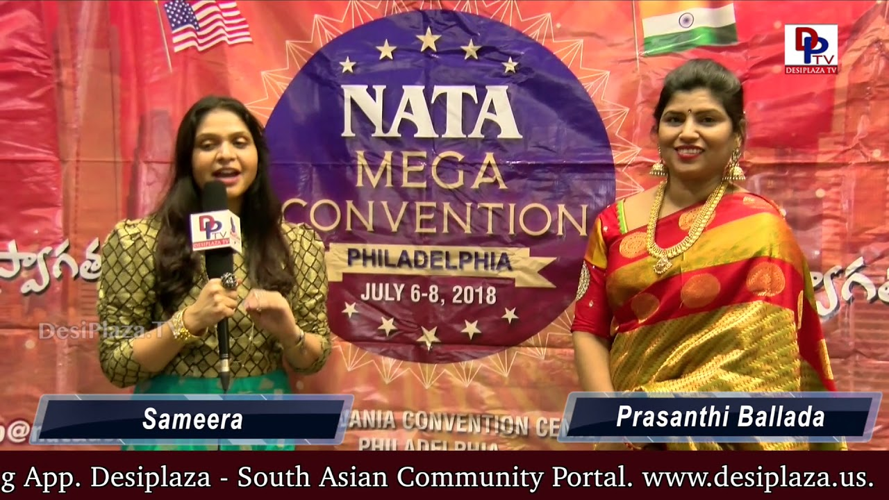 Sameera congratulates the NATA team for the grand success of the event || DesiplazaTV