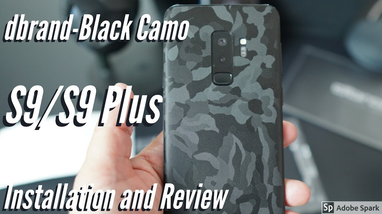 new style 56aa9 cf652 Samsung Galaxy S9/S9 Plus dbrand Skin - Black Camo- Install and Review