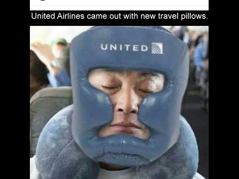 UNITED AIRLINES - PASSENGERS WEAR HELMETS 🛫🛬✈