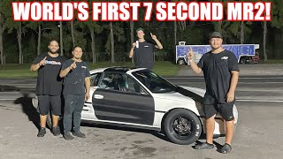 WE BUILT THE WORLD'S FIRST SEVEN SECOND MR2!