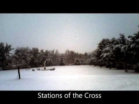 St. Francis Retreat House Easton PA: Snow scenes music by Cantores in Ecclesia