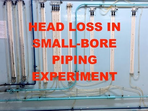 IEA201 Head Loss in Small Bore Piping System