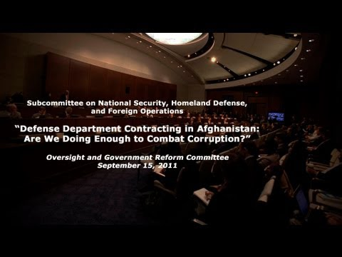 """""""Defense Department Contracting in Afghanistan: Are We Doing Enough to Combat Corruption?"""""""