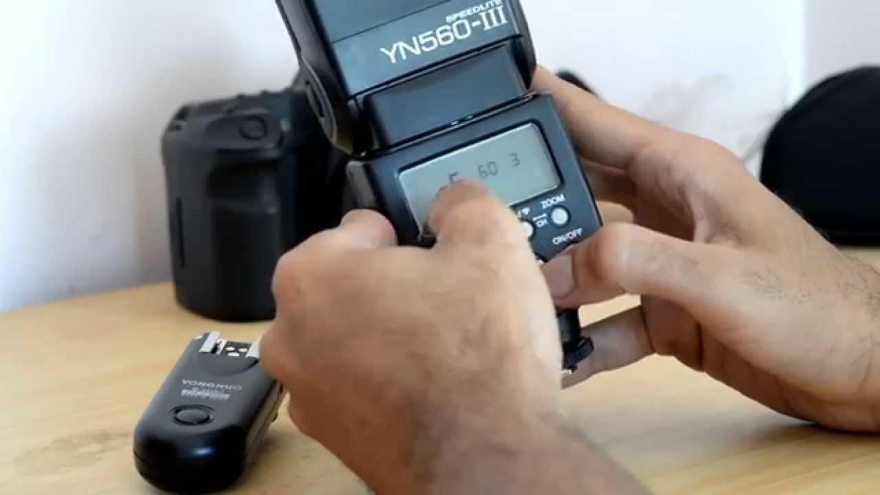 How To Setup Yongnuo Yn 560 Iii And Rf 603 Ii Youtube 560iii Speedlight Flash