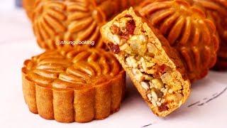 How To Make Mixed Traditional Baked Mooncake Step By Step / bánh trung thu nhân thập cẩm