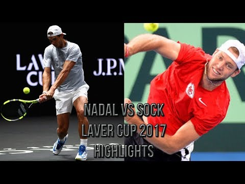 Rafael Nadal Vs Jack Sock - Laver Cup 2017 (Highlights HD)