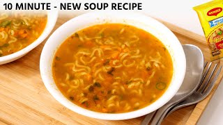 Maggi Soup Recipe -  Comforting Veg Noodles Soup in 10 Minute - CookingShooking