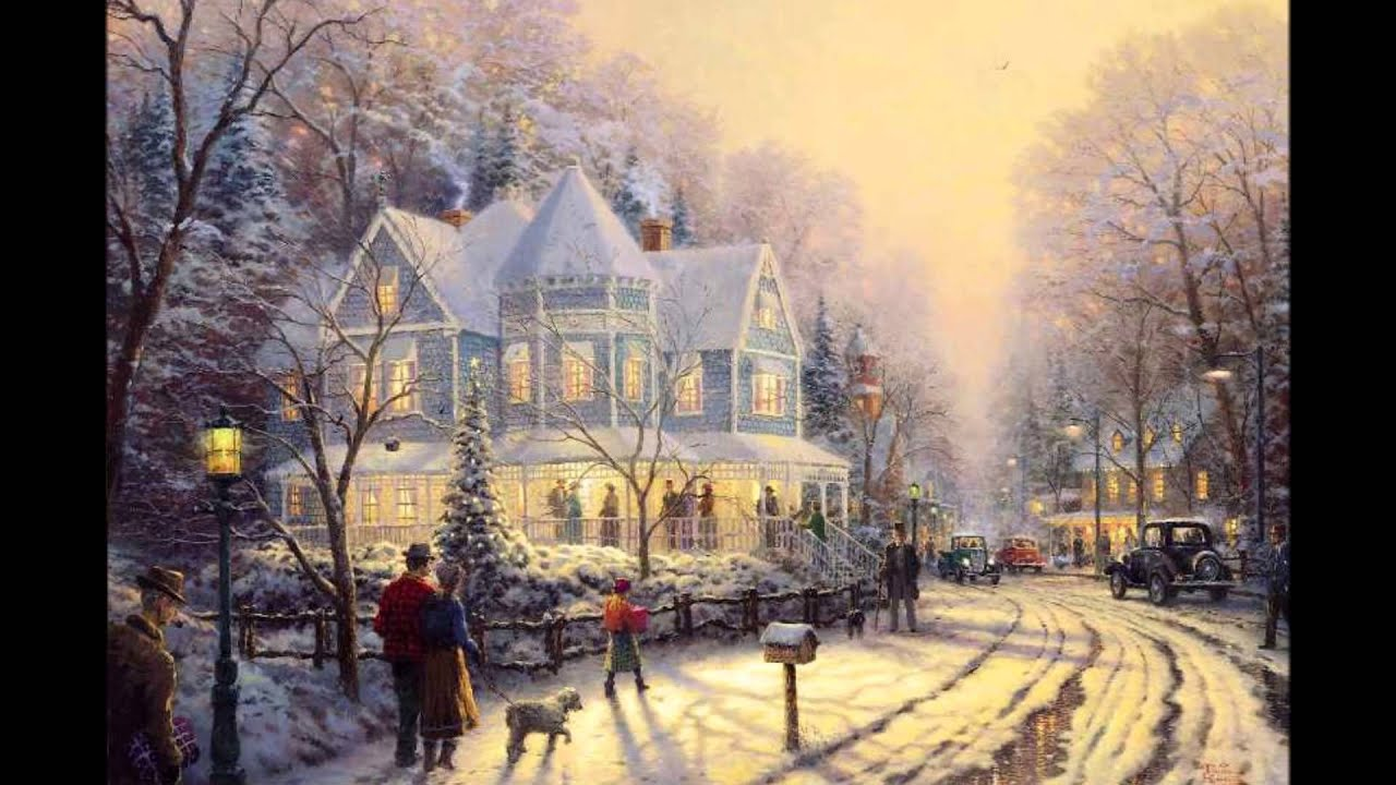 WHITE CHRISTMAS - BING CROSBY, OBRAZY THOMAS KINKADE II - YouTube