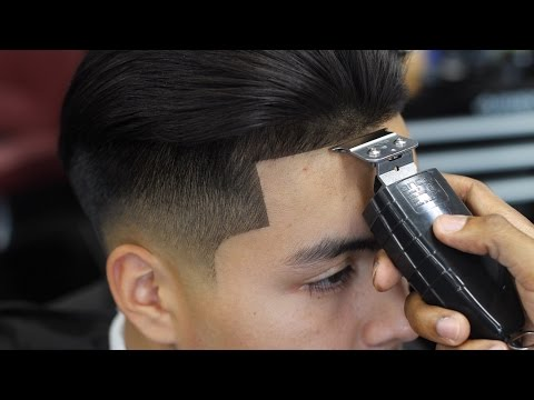 haircut-tutorial:-low-fade-with-long-hair-blow-dried-back