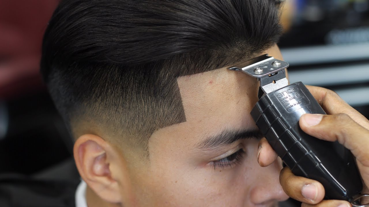 Haircut Tutorial Low Fade With Long Hair Blow Dried Back Youtube